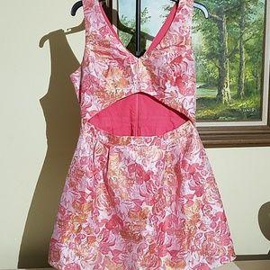 Sans souci metallic cut-out dress C46